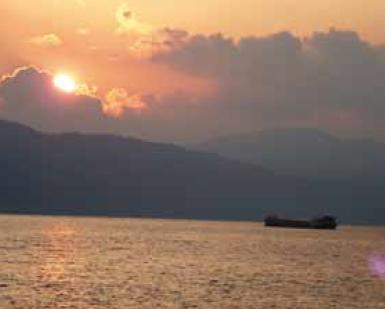 Le Danube au coucher du soleil